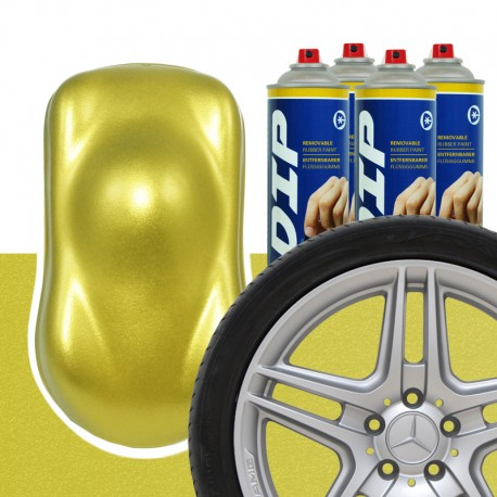 DIP Felgen-Set Gelbgold metallic