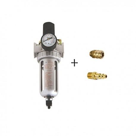AFR-804 Luftfilter Regler mit 2x Schnellkupplung